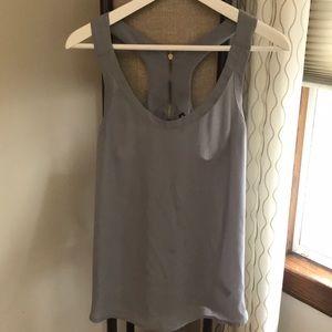 Express slate grey racer back dress top